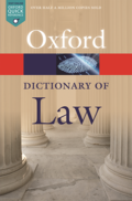 A Dictionary of Law. Eighth Edition